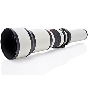 Opteka 650–1300mm ( with 2x - 1300–2600mm望遠ズームレンズfor Sony a9、a7s、a7r、a7、a6500、a6300, a6000...