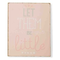 Mud Pie Plaque, Let Them Be Little, Pink by Mud Pie