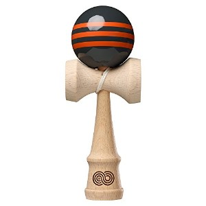 KENDAMA USA けん玉 KAIZEN-改善- Triple Stripe -Charcoal and Orange Triple Stripe-Gloss(トリプルストライプ グロス...