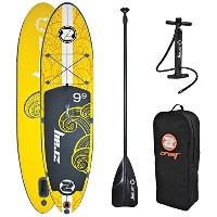 "z-ray x1 Sup 9 ' 9 "" Inflatable stand-up Paddleboardパッケージ、6インチ厚"