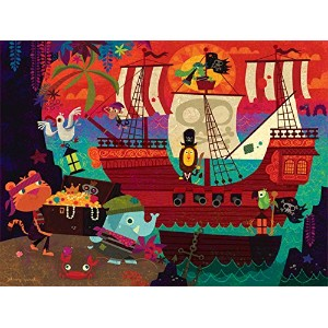 "Oopsy Daisy Fine Art for Kids Pirate 's Coveキャンバス壁アートby Johnny Yanok 24 x 18"" NB21763"