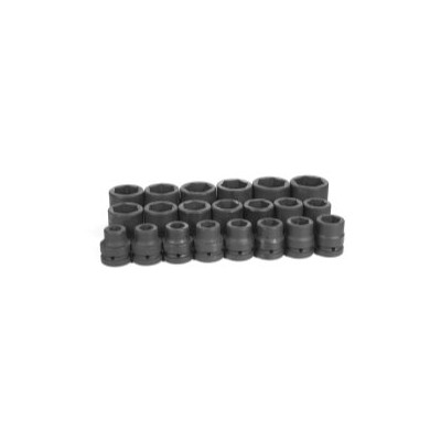 Grey Pneumatic 9021 1 in. Drive 21 Piece Fractional Set 0.75 in. to 2 in.