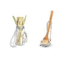 Cooking Utensil Set : Tabletops無制限、Inc 6Piece Mason JarのツールとPampered Chef Spoon Rest