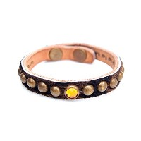 HTC 〔エイチティーシー〕 ブレスレット 別注 Sulank Skin Glass Beads&Round Studs Bracelet / Leopard