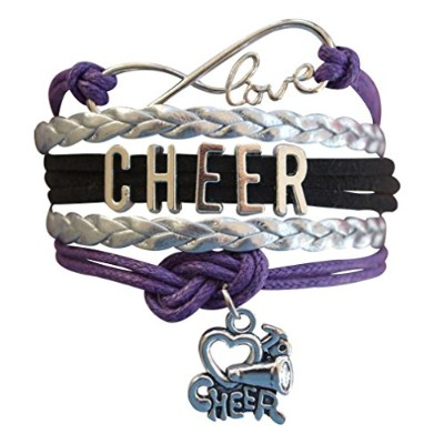 (Purple) - Cheer Bracelet- Girls Cheerleading Bracelet- Cheer Jewellery - Perfect Gift For...