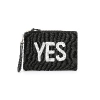 【40%OFF】YES&NO ビーズ クラッチバッグ ブラック 旅行用品 > その他