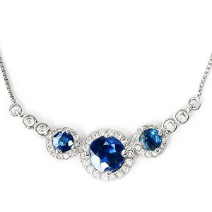 One&Only Jewellery 【鑑別書付】 計1.5ct 天然 サファイア クラシカル デザイン ネックレス ペンダント K18GP 9月誕生石