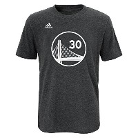 Stephen Curry Golden State Warriors Tシャツ ユース Adidas NBAプレイヤー Medium 10-12 グレイ