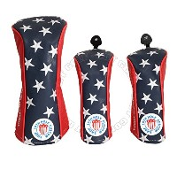 3パックUS Flag Stars and StripesドライバFairway Woods Headcovers