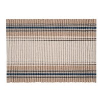 "Set of 4 Pcs, 13x19"" French Blue Stripes Placemat by C&F [並行輸入品]"