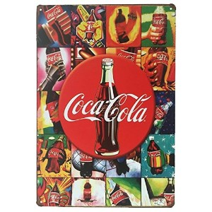 "Coca Cola BeveragesレトロヴィンテージTin Sign 12 "" x 8 ""インチ、A両面はがきMade by Smiel購入は含ま"