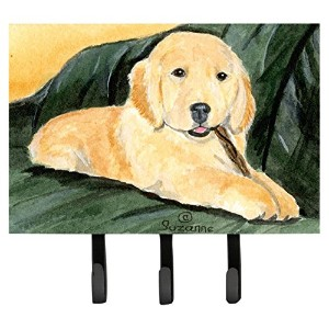 Caroline 's Treasures ss8761th68 Golden Retriever Leashホルダーまたはキーフック、L、マルチカラー