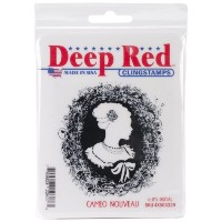 "Deep Red Cling Stamp 2.75""X3""-Cameo Nouveau (並行輸入品)"