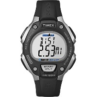 Timexユニセックスtw5 K86300 F5 Ironman Classic 50 Move + Watch with Black Resin Band Black/Silver-Tone