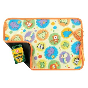 AM PM Kids! Reversible Placemat/Chalkboard, Zoo Animals by AM PM Kids!