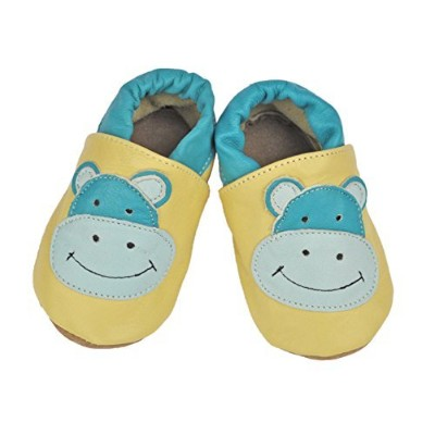 Tipsie Toes Baby Soft Sole 100% Genuine Leather Shoes - Hippo (0-6 Month (108)) by Liv & Leo...