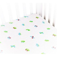 Baby Crib Sheets For Boy Or Girl. Muslin Cotton Crib Sheets Are Soft & Breathable For Deep Sleep....