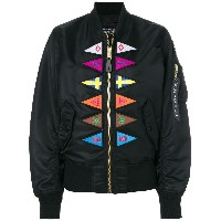 Marcelo Burlon County Of Milan Flags Alpha MA-1 ボンバージャケット - ブラック