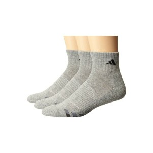 アディダス メンズ インナー・下着 ソックス【Cushion 3-Pack Quarter Socks】Heathered Light Onix/Black/Granite/Tech Grey