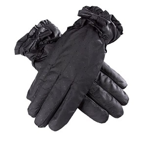 Zhhlaixing 高品質 Fashion Winter Bowknot Down Gloves Womens Touch Screen Waterproof Ski Gloves