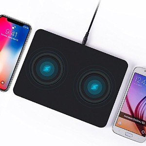 Qi ワイヤレス充電器 iphone x Dual position wireless charger 二重位置 2 in 1 同時に充電可能 iPhone 8 Plus iPhone 8...