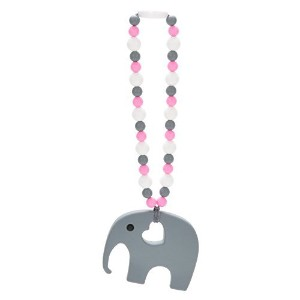 Nummy Beads Pink Elephant Baby Carrier Teether Teething Accessory Toy by Nummy Beads