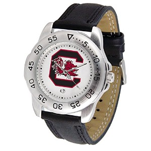 "South Carolina Fighting Gamecocks NCAA "" Sport "" Mens Watch (レザーバンド)"