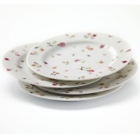 Country Rose Buds S / 4Dessert Plates