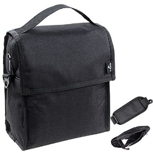 Insulated Lunchバッグ折りたたみ可能なマルチレイヤーThermal InsulatedオックスフォードランチトートバッグブラックZip Closure With Shoulderストラッ...