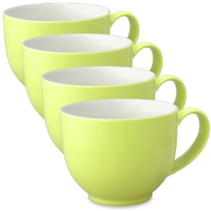 FORLIFE Q Tea Cup withハンドル( Set of 4 ) 10 oz. グリーン 521-LME-4