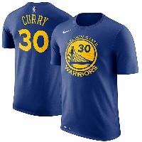 NBA ステフィン・カリー ネーム&ナンバーTシャツ ウォリアーズ(ブルー) Nike Stephen Curry Golden State Warriors Royal Name & Number...