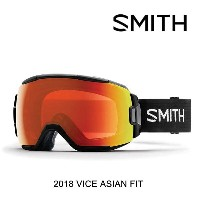 2018 SMITH スミス ゴーグル GOGGLE VICE BLACK/CHROMAPOP EVERYDAY RED MIRROR ASIAN FIT