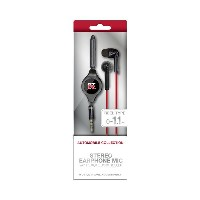 (まとめ)NISSAN 公式ライセンス品 GT-R STREO EARPHONEMIC WITH REMOTE CONTROLLER BLACK NR-ES36BK【×2セット】