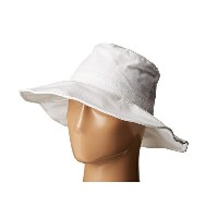 ハットアタック レディース 帽子 アクセサリー Canvas Sunhat with Adjustable Sizing and Wire in Brim White