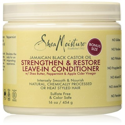 Shea Moisture Jamaican Black Castor Oil Strengthen, Grow & Restore Leave-In Conditioner 16oz by...