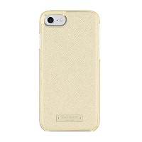 kate spade new york Protective Wrap Case for iPhone 7 - Saffiano Gold with Logo Plate [並行輸入品]