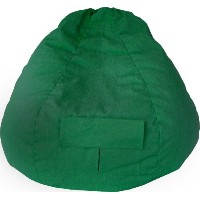 Gold Medal 31008484919 Small Denim Bean Bag with Pocket for Children, Green by Gold Medal