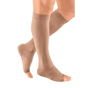 mediven plus Compression Stockings 30-40 Calf Open Toe Beige V by Medi