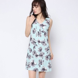 【SALE 61%OFF】ルーミィーズ  Roomy's OUTLET ふくれ花柄カットOP (ブルー)