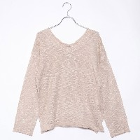【SALE 61%OFF】ロイヤルパーティー プロデュースド バイ ルーミィーズ ROYAL PARTY produced by Roomy's OUTLET レースアップスラブニットトップス ...