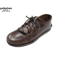 YUKETEN(ユケテン)/#15331 CAMPSOLE BLUCHER MOCCASIN w/kiltie/g-brown