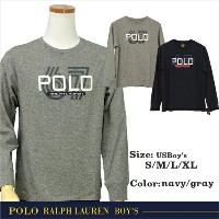POLO by Ralph Lauren Boy'sラルフローレン 長袖 T シャツPOLOロゴ プリント長袖 T シャツ【2018-Spring/NewColor】