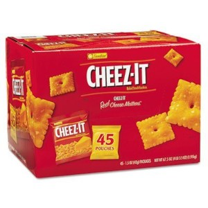 Cheez-it Crackers, 1.5 oz Pack, 45 Packs/Box, Sold as 1 Carton by Sunshine