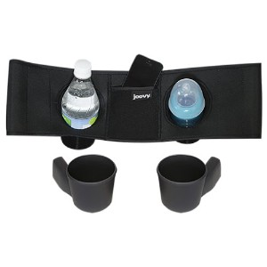 Joovy Caboose VaryLight Parent Organizer and Cup Holders, Black by Joovy