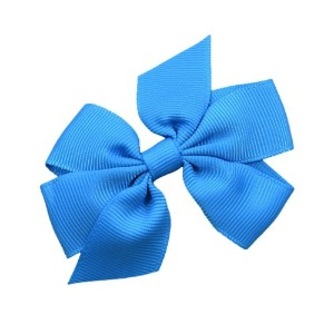 ヘアリボンバレッタのガールズ3 Inch Simple Grosgrain Bow by Funny Girl Designs Lined Alligator Clip ブルー Hair Bow...