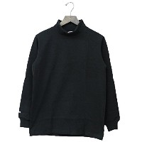 (バーバリアン) BARBARIAN『MOCK NECK LONG SLEEVE-SOLID』(BLACK) (M, BLACK)