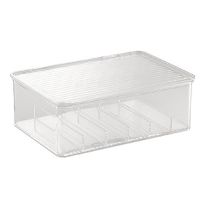 High Quality Clarity Cosmetic Organizer Box for Vanity Cabinet To Hold Nail Polish, Files, Clippers...