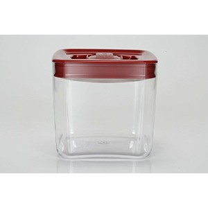 High Quality Cube 3-1/2-Quart Storage Container with Red Lid