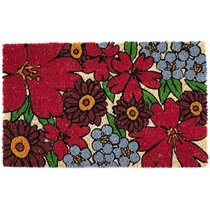 High Quality Forget-Me-Nots Non Slip Coir Doormat