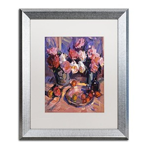 商標Fineアートdlg0350-s1114mf Still Life Apres Manet by David Lloyd Glover 16x20 DLG0350-S1620MF